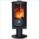 Oak Stoves Zeta 10 Pedestal Freestanding Multifuel Wood Burning Stove
