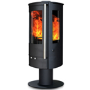 Oak Stoves Zeta 5 Pedestal Freestanding Multifuel Wood Burning Stove