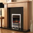 Pure Glow Stanford 48 Oak and Bauhaus Illusion Electric Fireplace Suite
