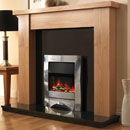 Pure Glow Stanford 48 Oak and Zara Illusion Electric Fireplace Suite