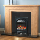 Pure Glow Hanley 48 Oak and Juliet Electric Fireplace Suite