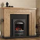 Pure Glow Hanley 48 Full Depth Gas Oak Fireplace Suite