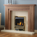 Pure Glow Hanley 48 Full Depth Gas Walnut Fireplace Suite