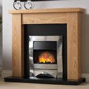 Pure Glow Ludlow Oak and Zara Electric Fireplace Suite