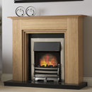 Pure Glow Middleton Oak Electric Fireplace Suite