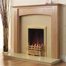 Pure Glow Stretton Full Depth Gas Oak Fireplace Suite