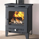 Rofer and Rodi Stoves Alora Anthracite Multifuel Wood Burning Stove