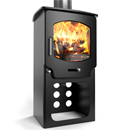 Saltfire Stoves ST-X4 Tall Multifuel Wood Burning Stove