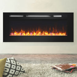 Apex Fires Daytona 1230 Black Glass HIW Electric Fire
