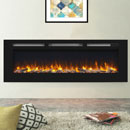 Apex Fires Daytona 1530 Black Glass HIW Electric Fire