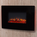 Garland Fires Denver Black Hang on the Wall Electric Fire