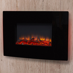 Signature Fireplaces Denver Black Hang on the Wall Electric Fire
