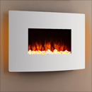 Apex Fires Havana II White Hang on the Wall Electric Fire