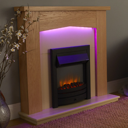 Signature Fireplaces Traverse Black Freestanding Electric Suite