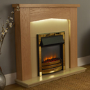Signature Fireplaces Traverse Brass Freestanding Electric Suite
