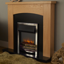 Signature Fireplaces Vegas Chrome Freestanding Electric Suite