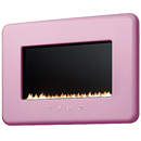 Smeg L30FAB Pink Retro Flueless Gas Fire