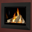 Verine Celena HE Wall Mounted Gas Fire Black Trim Black Interior (MK 2)