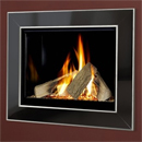 Verine Celena HE Gas Fire Black Nickel and Chrome Trim Black Interior (MK 2)