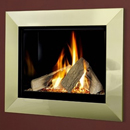Verine Celena HE Wall Mounted Gas Fire Brass Trim Black Interior (MK 2)