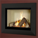 Verine Celena HE Wall Mounted Gas Fire Black Trim Cream Interior (MK 2)