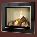 Verine Celena HE Gas Fire Black Nickel and Chrome Trim Cream Interior (MK 2)