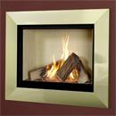 Verine Celena HE Wall Mounted Gas Fire Brass Trim Cream Interior (MK 2)