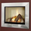Verine Celena HE Wall Mounted Gas Fire Silver Trim Cream Interior (MK 2)