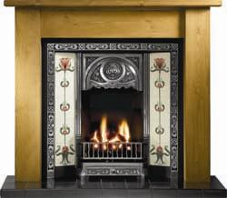 Gallery Fireplaces Tulip Cast Iron Gas Package